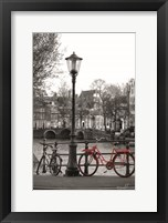 Framed Red Bike