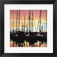 Framed Harbor Sunset