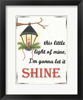 Framed Let It Shine