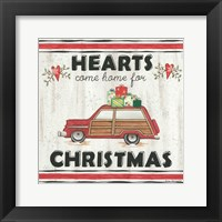 Framed Hearts Come Home for Christmas