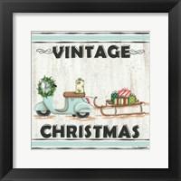 Framed Vintage Christmas