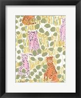 Framed Hello Cheetah - Pink & Orange