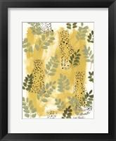 Framed Hello Cheetah - Green