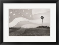 Framed Patriotic Windmill