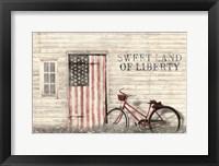 Framed Sweet Land of Liberty