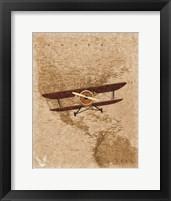 Framed Airplane Map 2