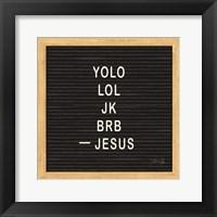 Framed Jesus Humor