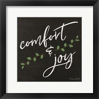 Framed Comfort & Joy Chalkboard