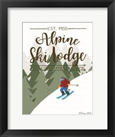 Framed Alpine Ski Lodge