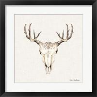 Framed Boho Steer Head I