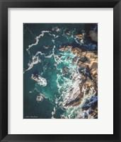 Framed Ocean on the Rocks