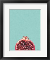 Framed Blue Pomegranate
