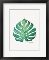 Framed Watercolor Monstera Leaf