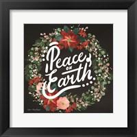 Framed Peace on Earth Wreath