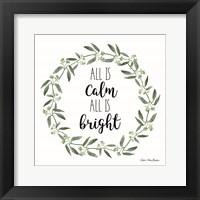 Framed All is Calm Wreath