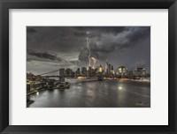 Framed Manhattan Storm