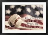 Framed Baseball - Playing the Game