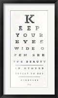 Framed Eye Chart II