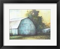 Framed Rustic Blue Barn