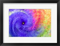 Framed Abstract Flowers in a Twirl