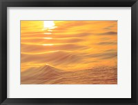 Framed Sunset Colors and Patterns on Small Waves