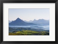 Framed Landscape of mountain, between Aksum and Mekele, Ethiopia