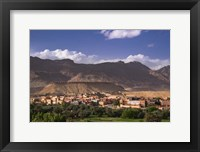 Framed Oasis City of Tinerhir beneath foothills of the Atlas Mountains, Morocco