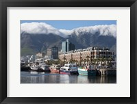 Framed South Africa, Cape Town Victoria and Alfred Waterfront, Table Mountain