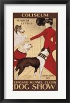 Framed Chicago Kennel Club's Dog Show