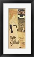 Framed Ambassadeurs - Yvette Guilbert Tous les Soirs