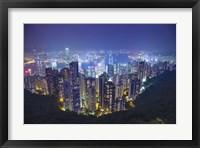 Framed China, Hong Kong, Overview of City at Night