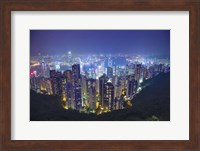 Framed China, Hong Kong, Overview of City at Night
