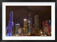 Framed Skyscrapers and Hong Kong Observation Wheel, Hong Kong, China