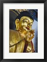 Framed Buddhist Statue in Jinshan Temple, Zhenjiang, Jiangsu Province, China
