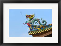 Framed Dragon Sculpture, South Putuo Temple, Xiamen, Fujian Province, China