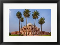 Framed Exterior view of Humayun's Tomb in New Delhi, India