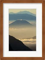 Framed Indonesia, East Java, Mount Bromo Volcano at Sunrise