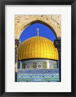 Framed Dome of the Rock Arch, Temple Mount, Jerusalem, Israel