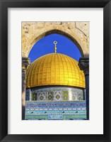 Framed Dome of the Rock Arch, Temple Mount, Jerusalem, Israel