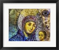 Framed Mary and Jesus Icon, Greek Orthodox Church of the Nativity Altar Nave, Bethlehem, Palestine