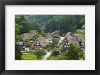 Framed Gassho-Zukuri Houses in the Mountain, Japan