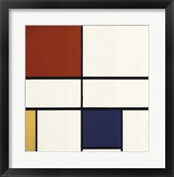 Framed Composition C (No. III) with Red, Yellow and Blue