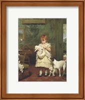 Framed Girl with Dogs