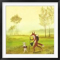 Framed Master Lamb and His Painting Master