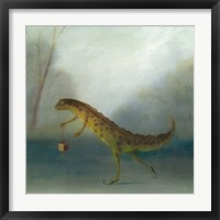 Framed Yuletide Newt
