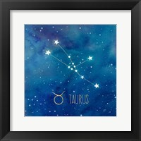 Framed Star Sign Taurus