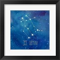 Framed Star Sign Gemini