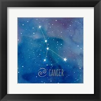 Framed Star Sign Cancer