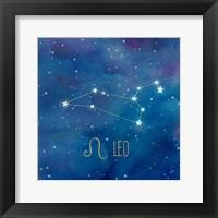 Framed Star Sign Leo