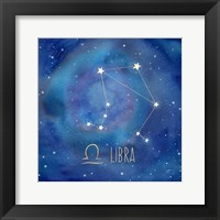 Framed Star Sign Libra